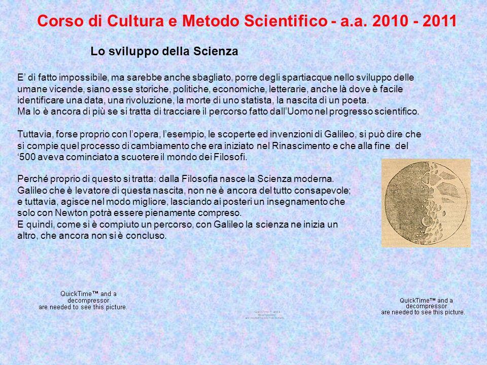 Corso di Cultura e Metodo Scientifico - a.a.