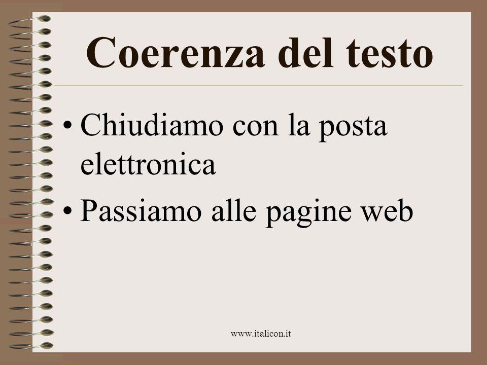 www.italicon.it Con le pagine web...