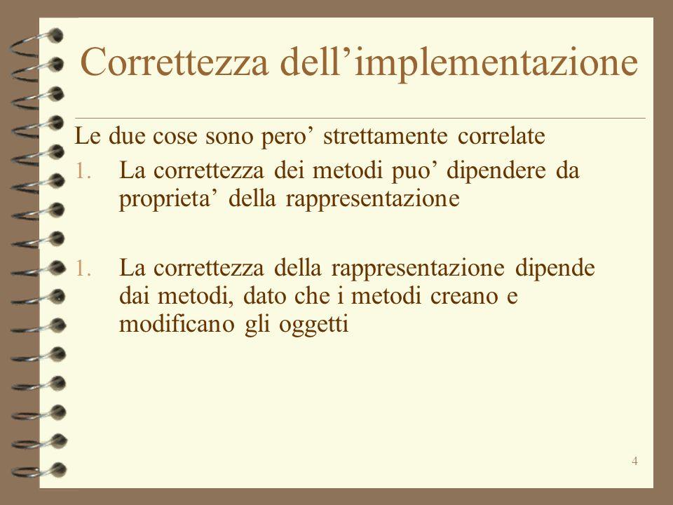 4 Correttezza dellimplementazione Le due cose sono pero strettamente correlate 1.