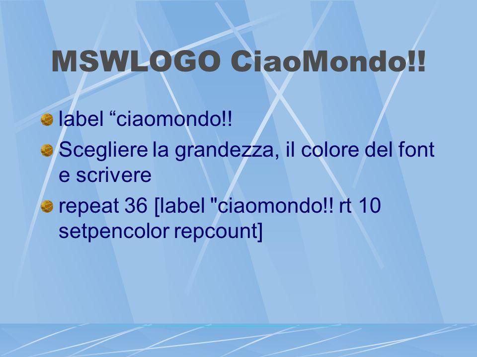 MSWLOGO CiaoMondo!. label ciaomondo!.