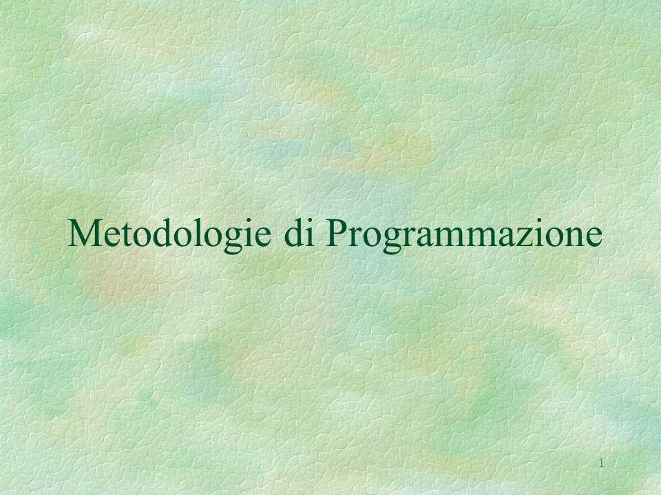 1 Metodologie di Programmazione