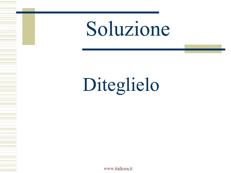www.italicon.it Soluzione Diteglielo