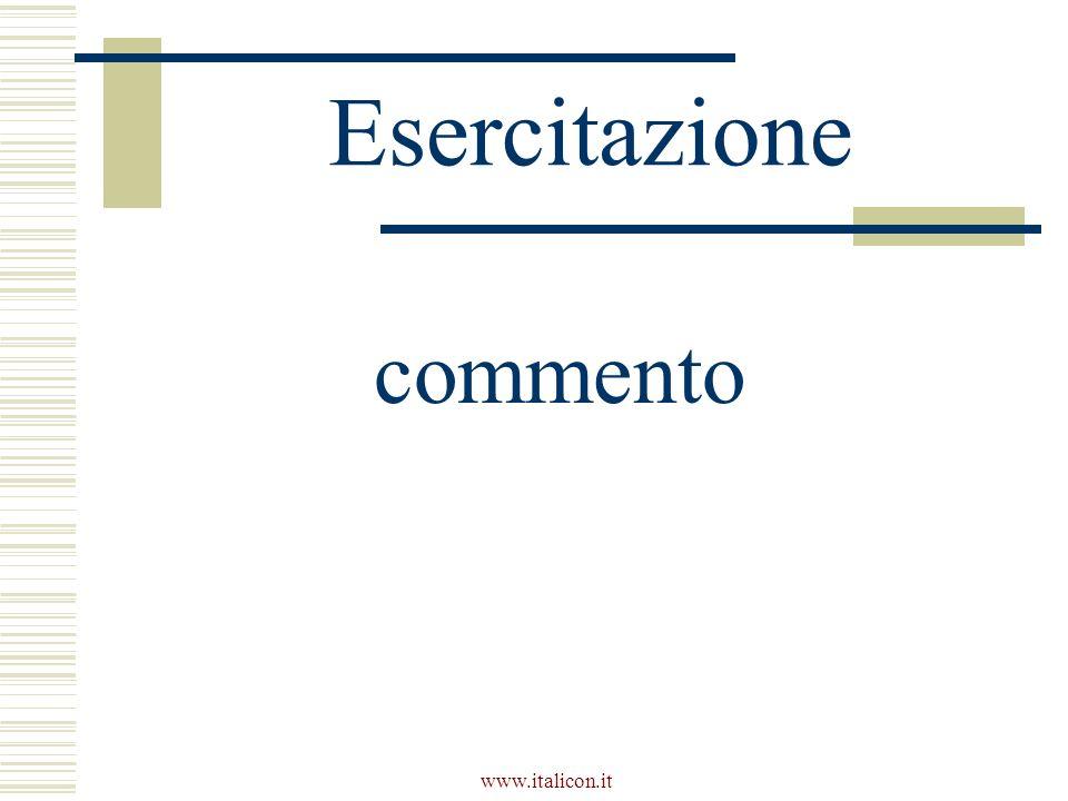 www.italicon.it Esercitazione commento