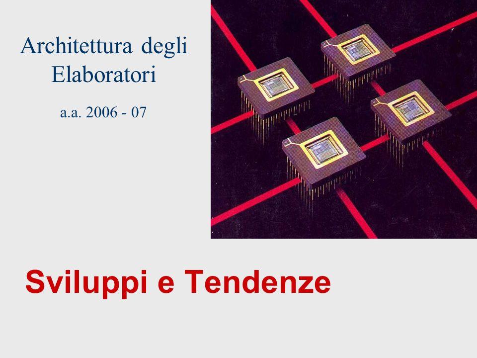 Architettura degli Elaboratori a.a. 2006 - 07 Sviluppi e Tendenze