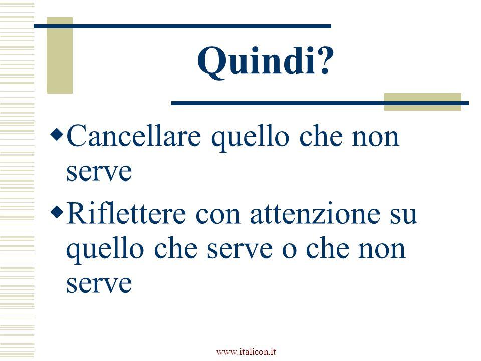 www.italicon.it Quindi.