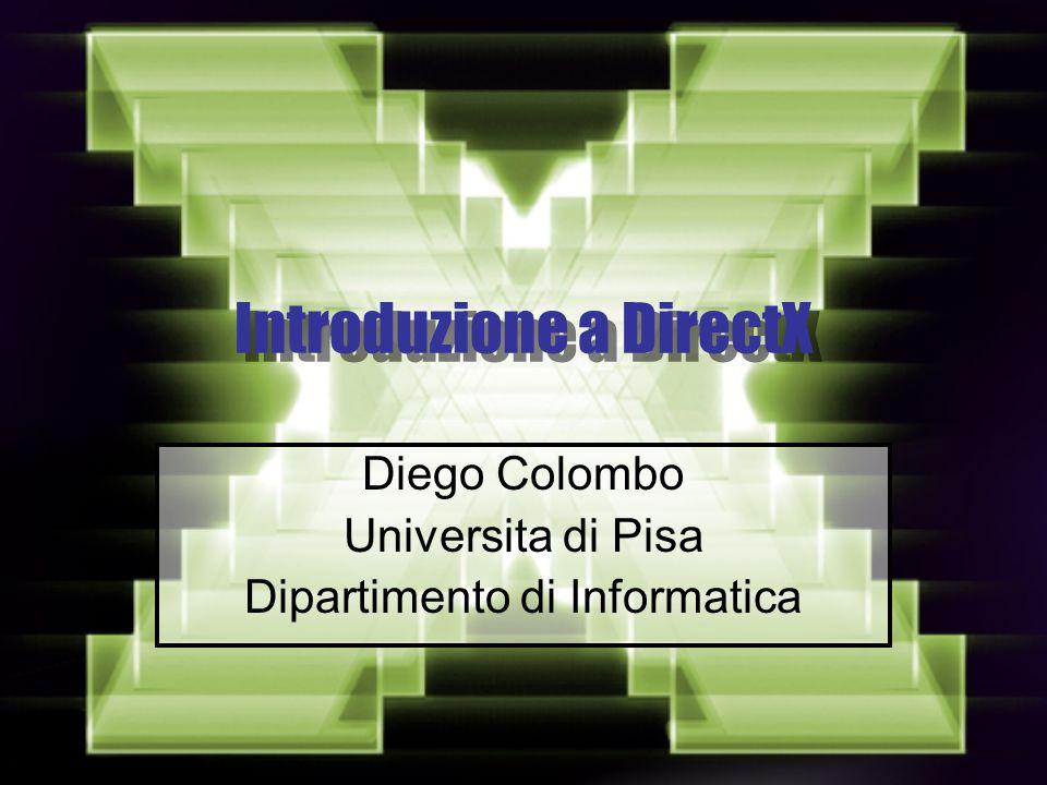 Introduzione a DirectX Diego Colombo Universita di Pisa Dipartimento di Informatica