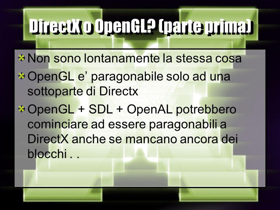 DirectX o OpenGL.