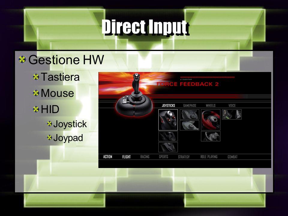 Direct Input Gestione HW Tastiera Mouse HID Joystick Joypad