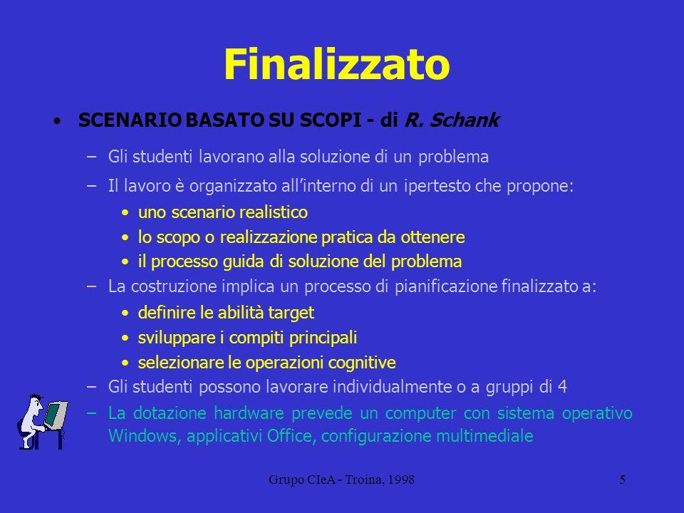 Grupo CIeA - Troina, 19986 Collaborativo CIRCOLI DI APPRENDIMENTO - di M.