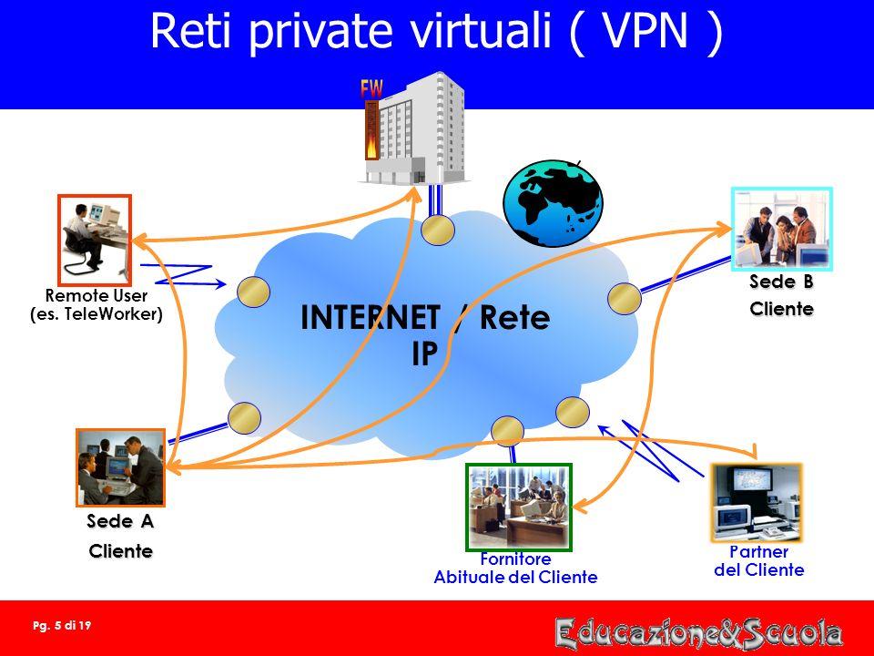 Pg. 4 di 19 Security SECURITY COMPETENCE CENTER Connettività IP Servizi di Firewalling gestiti VPN certificazione digitale vulnerability assessment Se