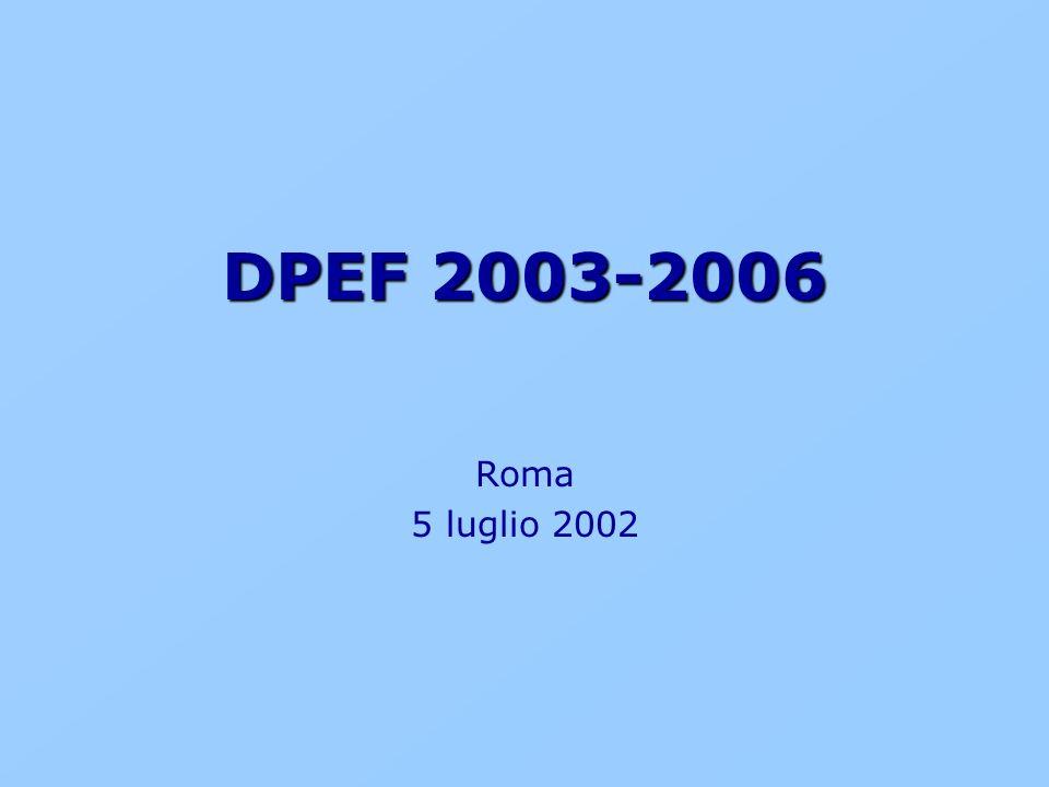DPEF 2003-2006 Roma 5 luglio 2002