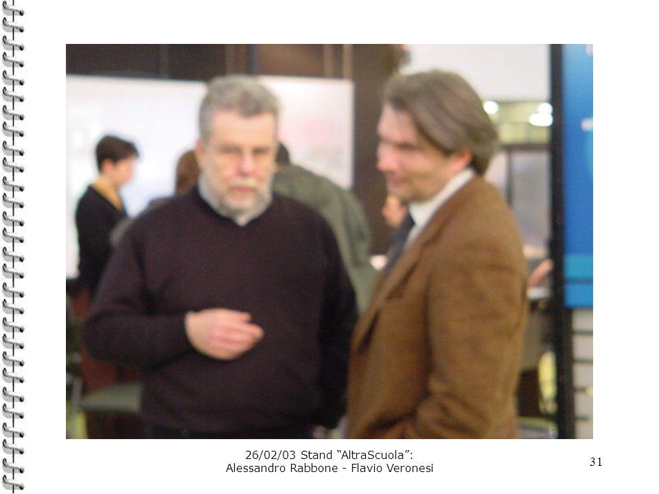 31 26/02/03 Stand AltraScuola: Alessandro Rabbone - Flavio Veronesi