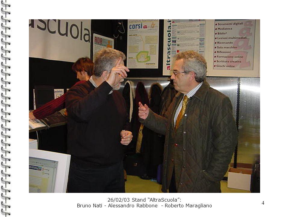 4 26/02/03 Stand AltraScuola: Bruno Nati - Alessandro Rabbone - Roberto Maragliano