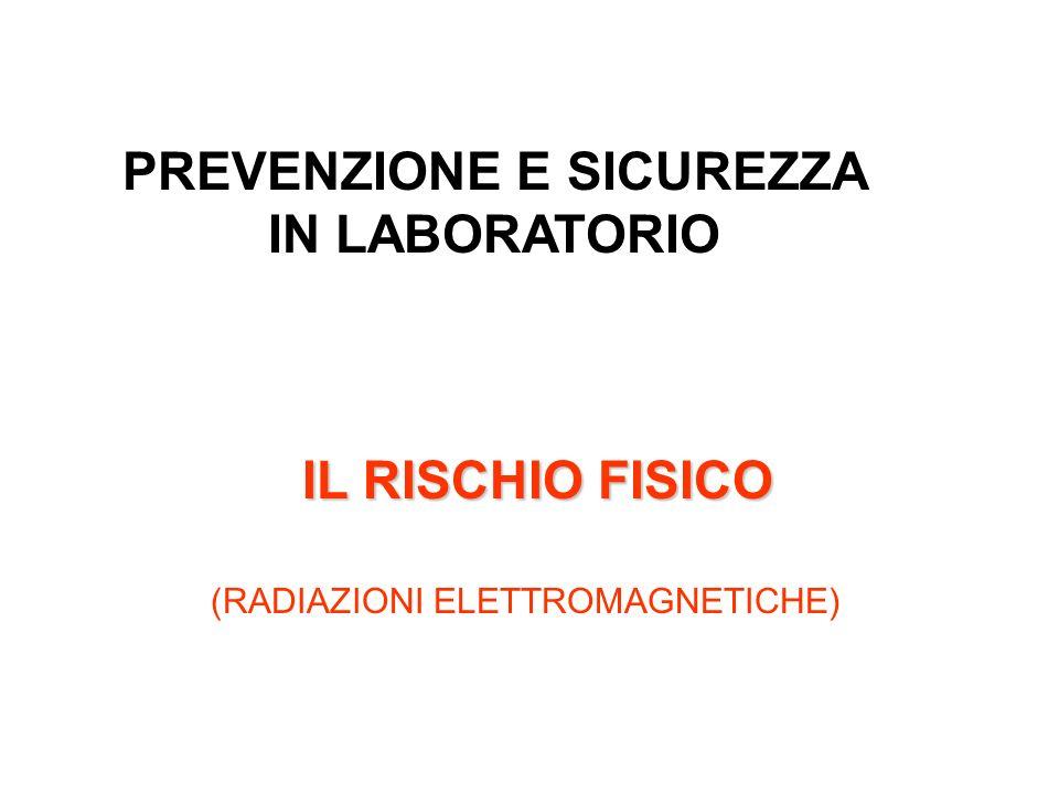 PREVENZIONE E SICUREZZA IN LABORATORIO IL RISCHIO FISICO (RADIAZIONI ELETTROMAGNETICHE)