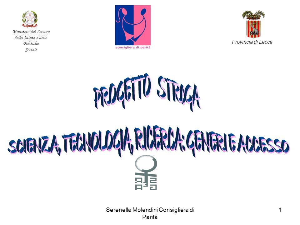 Serenella Molendini Consigliera di Parità 1 Ministero del Lavoro della Salute e delle Politiche Sociali Provincia di Lecce