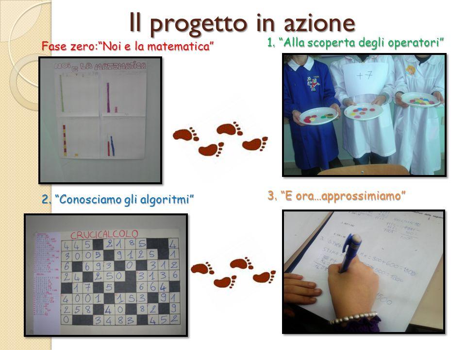 Il progetto in azione Fase zero:Noi e la matematica 2.
