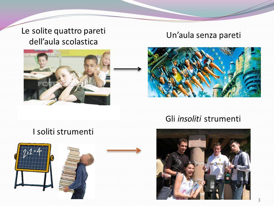 3 Le solite quattro pareti dellaula scolastica Unaula senza pareti I soliti strumenti Gli insoliti strumenti