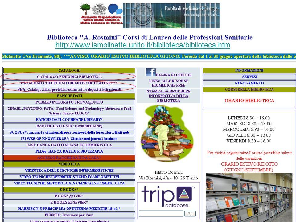 http://www.lsmolinette.unito.it/biblioteca/biblioteca.htm
