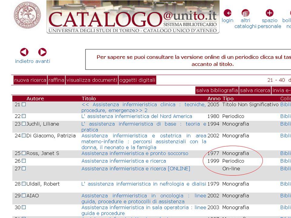 Da qui, dopo averli selezionati, invio gli articoli nelle Collections o In My Bibliography