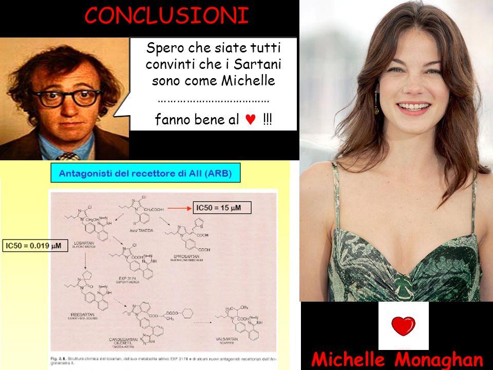 Michelle Monaghan CONCLUSIONI Spero che siate tutti convinti che i Sartani sono come Michelle ……………………………… fanno bene al !!!