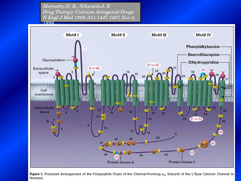 Abernethy D. R., Schwartz J. B Drug Therapy: Calcium-Antagonist Drugs N Engl J Med 1999; 341:1447-1457, Nov 4, 1999