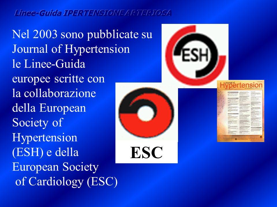 Nel 2003 sono pubblicate su Journal of Hypertension le Linee-Guida europee scritte con la collaborazione della European Society of Hypertension (ESH)