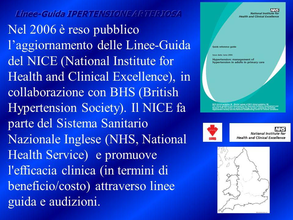 Nel 2006 è reso pubblico laggiornamento delle Linee-Guida del NICE (National Institute for Health and Clinical Excellence), in collaborazione con BHS