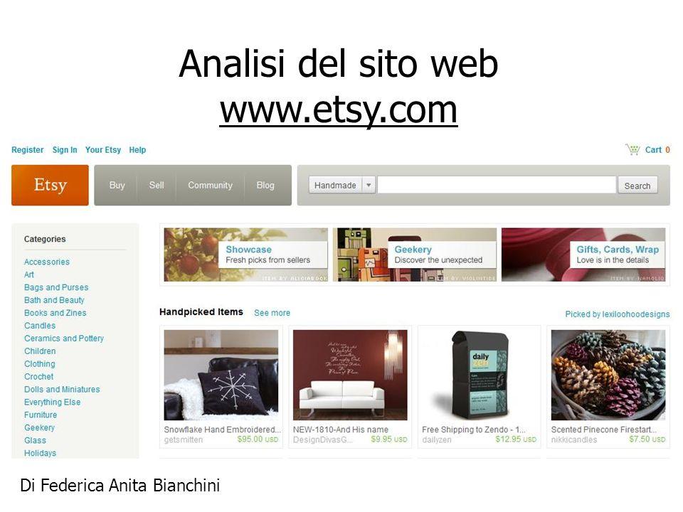 Analisi del sito web www.etsy.com Di Federica Anita Bianchini