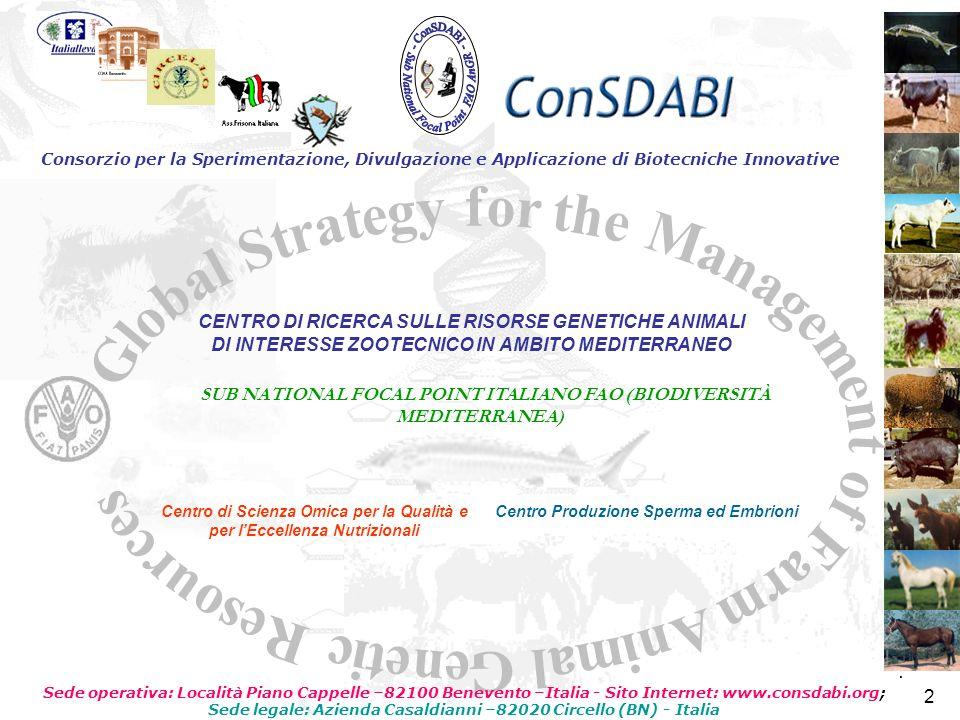 2222 2 2 Consorzio per la Sperimentazione, Divulgazione e Applicazione di Biotecniche Innovative SUB NATIONAL FOCAL POINT ITALIANO FAO (BIODIVERSITÀ M