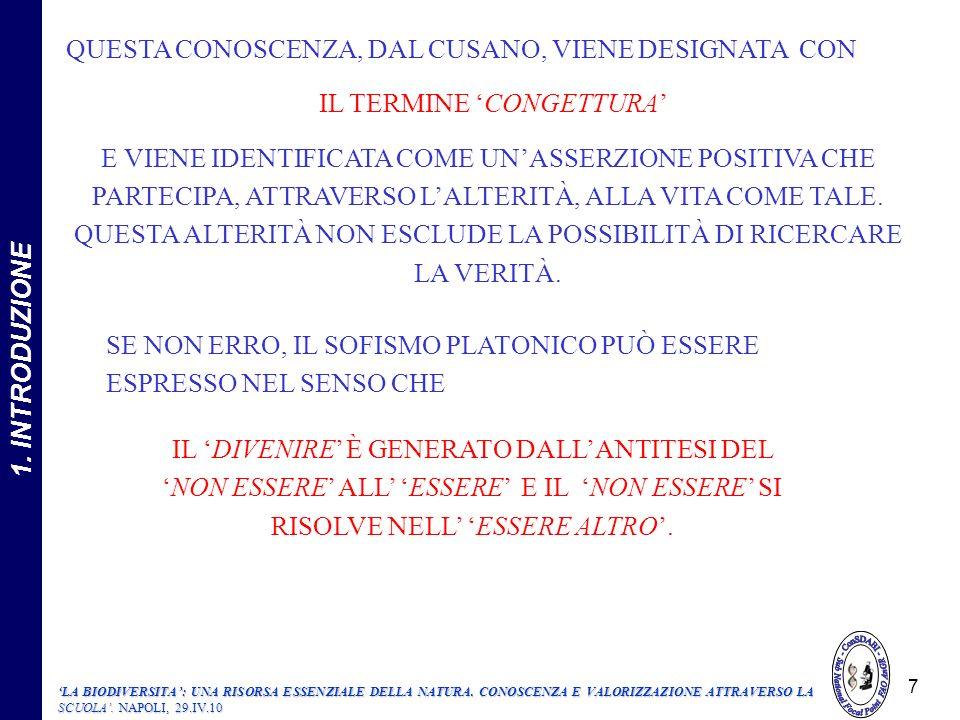 208 UN PRODOTTO LOCALE ESEMPIO ILLUMINANTE DI UTILIZZAZIONE DELLA BIODIVERSITA, LEGATA ALLA VARIEGATA RISORSA ENDOGENA DI UN BIOTERRITORIO 208 2.1.5.1.