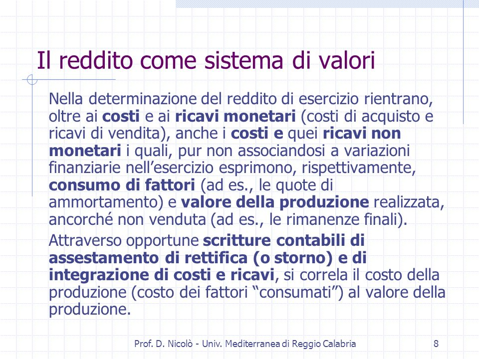 Prof. D. Nicolò - Univ. Mediterranea di Reggio Calabria28 N.I.