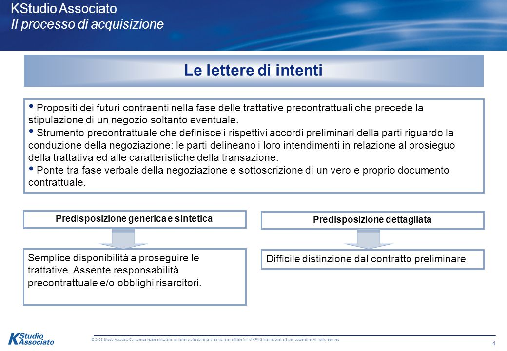 4 © 2008 Studio Associato Consulenza legale e tributaria, an Italian professional partnership, is an affiliate firm of KPMG International, a Swiss cooperative.