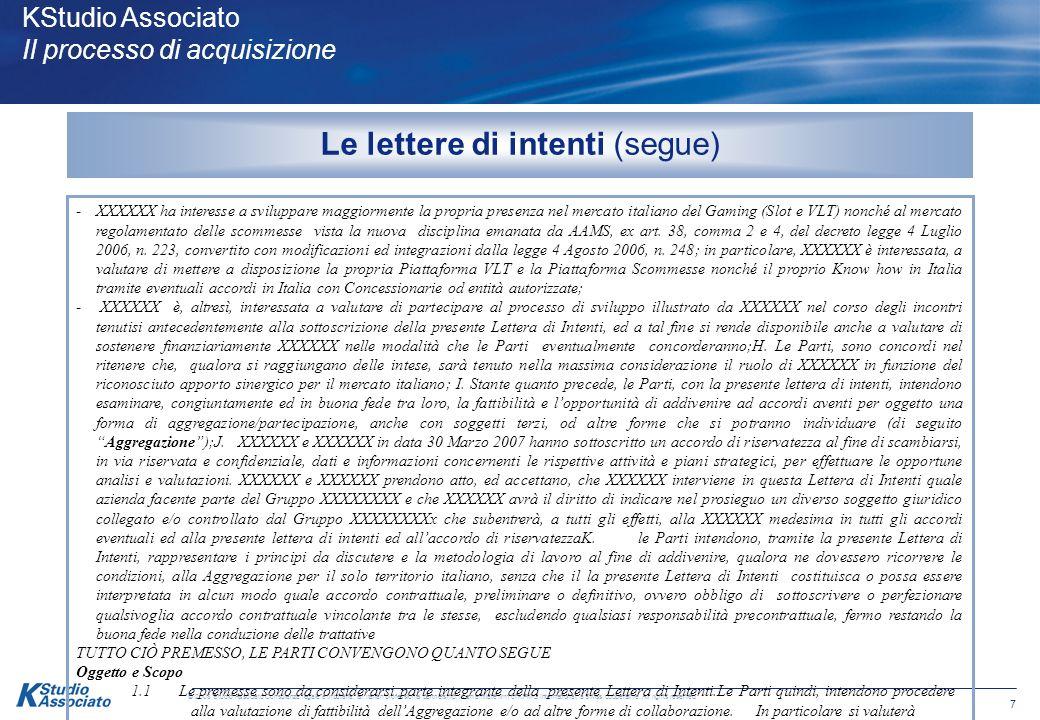 17 © 2008 Studio Associato Consulenza legale e tributaria, an Italian professional partnership, is an affiliate firm of KPMG International, a Swiss cooperative.
