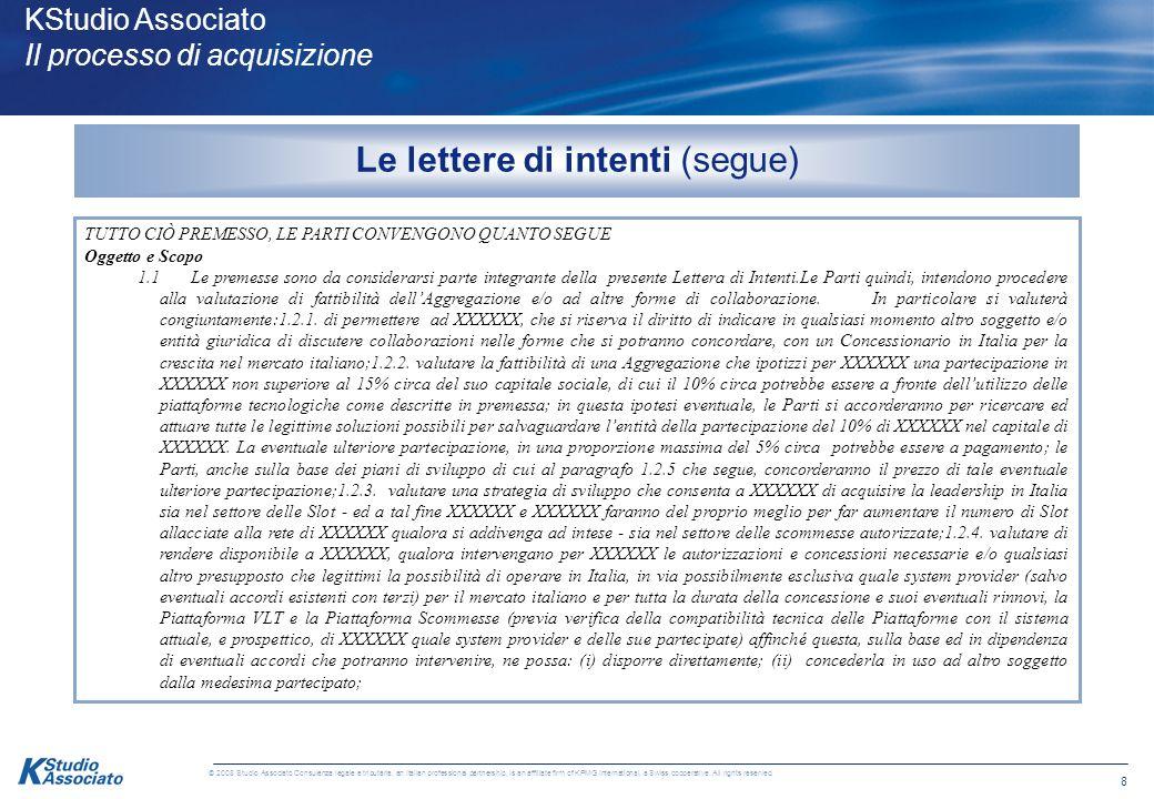 38 © 2008 Studio Associato Consulenza legale e tributaria, an Italian professional partnership, is an affiliate firm of KPMG International, a Swiss cooperative.