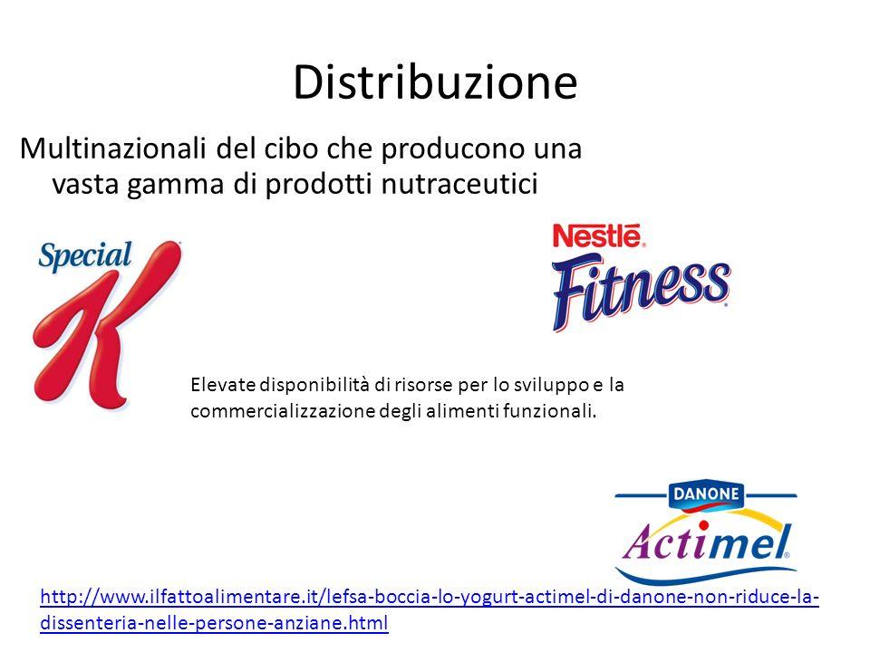 Distribuzione Multinazionali del cibo che producono una vasta gamma di prodotti nutraceutici http://www.ilfattoalimentare.it/lefsa-boccia-lo-yogurt-ac