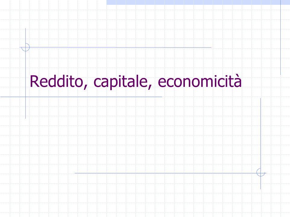 Le differenti nozioni di reddito A seconda delle finalità che ne orientano la misurazione varia la nozione stessa di reddito: Reddito contabile: ottenuto sulla base dellapplicazione di principi contabili uniformi e criteri di valutazione uniformi e costanti nel tempo.