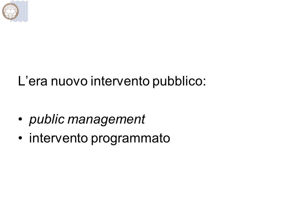 Lera nuovo intervento pubblico: public management intervento programmato
