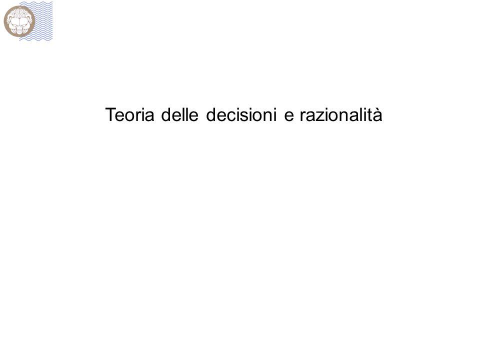 Teoria delle decisioni e razionalità