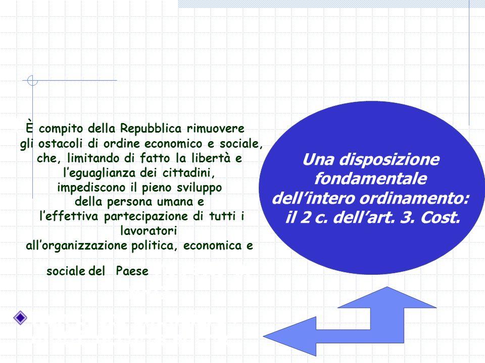 f È compito della Repubblica rimuovere gli ostacoli di ordine economico e sociale, che, limitando di fatto la libertà e leguaglianza dei cittadini, im