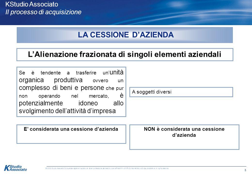 4 © 2008 Studio Associato Consulenza legale e tributaria, an Italian professional partnership, is an affiliate firm of KPMG International, a Swiss coo