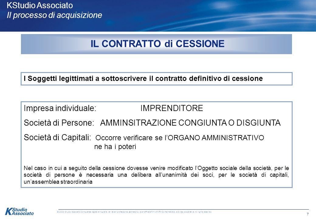 6 © 2008 Studio Associato Consulenza legale e tributaria, an Italian professional partnership, is an affiliate firm of KPMG International, a Swiss coo