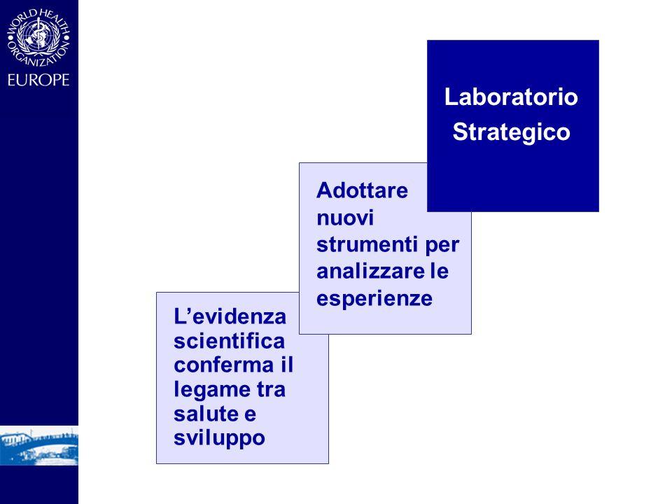 Laboratorio Strategico Adottare nuovi strumenti per analizzare le esperienze Levidenza scientifica conferma il legame tra salute e sviluppo