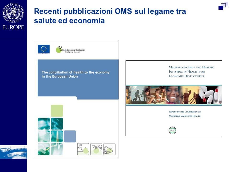 Recenti pubblicazioni OMS sul legame tra salute ed economia