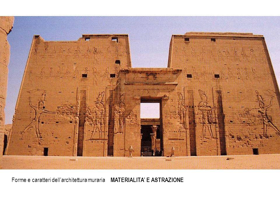 Forme e caratteri dellarchitettura muraria MATERIALITA E ASTRAZIONE