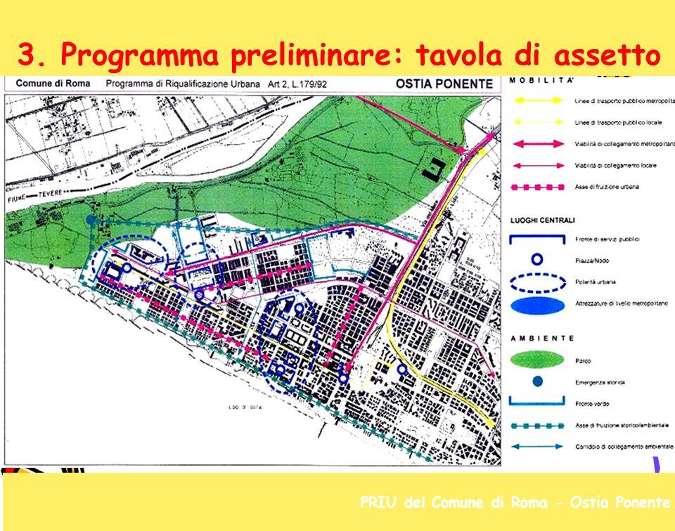 3. Programma preliminare: tavola di assetto PRIU del Comune di Roma - Ostia Ponente