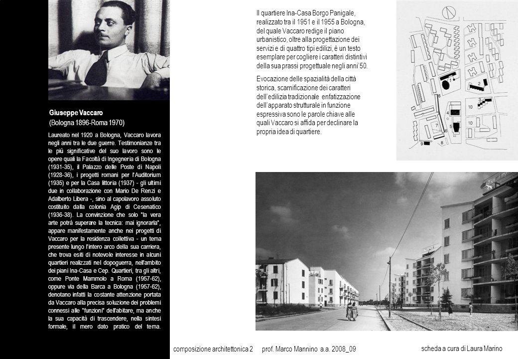 Giuseppe Vaccaro (Bologna 1896-Roma 1970) Laureato nel 1920 a Bologna, Vaccaro lavora negli anni tra le due guerre.