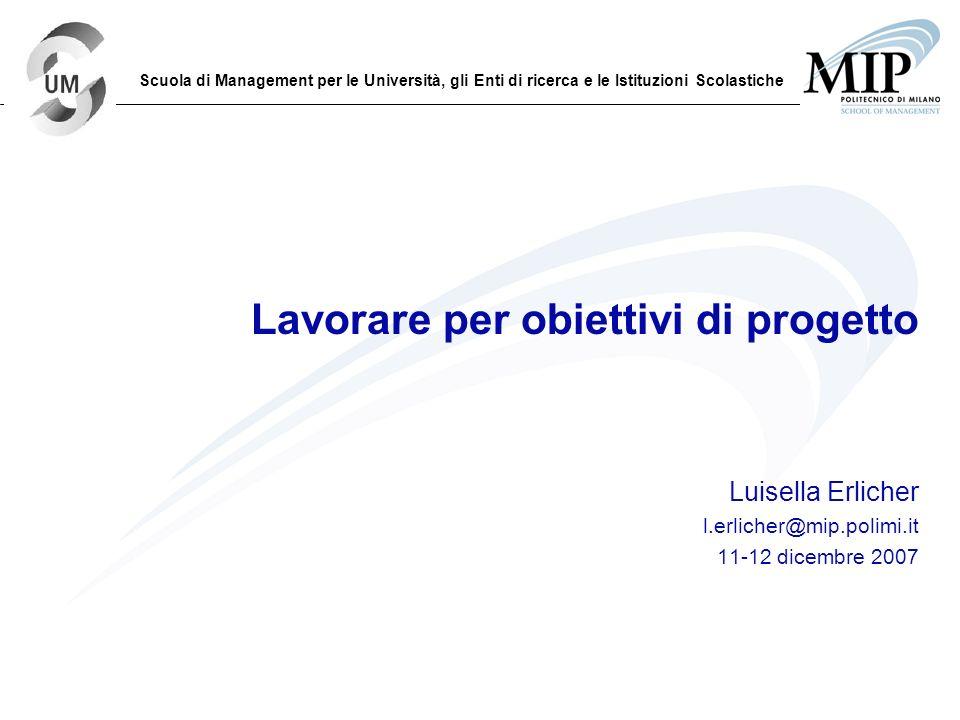 Titolo Titolo Titolo Titolo Titolo Sottotitolo Sottotitolo Sottotitolo Data Lezione Docente Mail docente Lavorare per obiettivi di progetto Luisella E