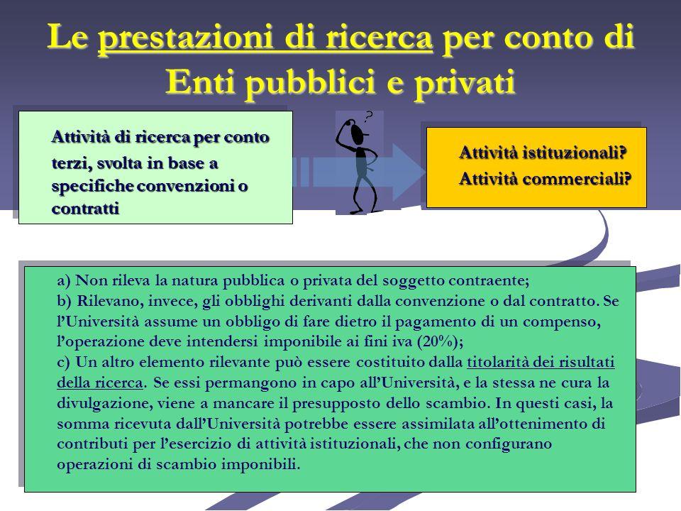 Contratti e convenzioni di ricerca stipulati con la Comunità Europea Art.