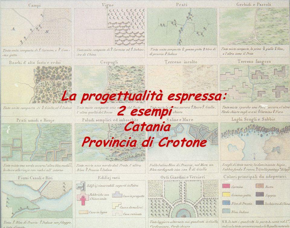 La progettualità espressa: 2 esempi Catania Catania Provincia di Crotone