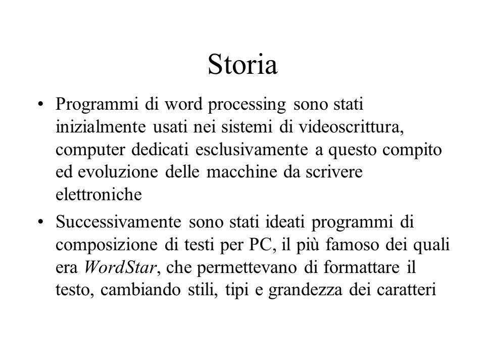 Storia Programmi di word processing sono stati inizialmente usati nei sistemi di videoscrittura, computer dedicati esclusivamente a questo compito ed